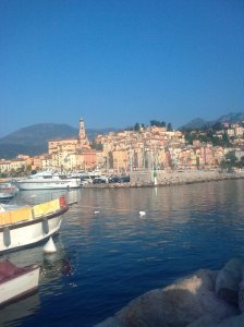 Menton old town and port